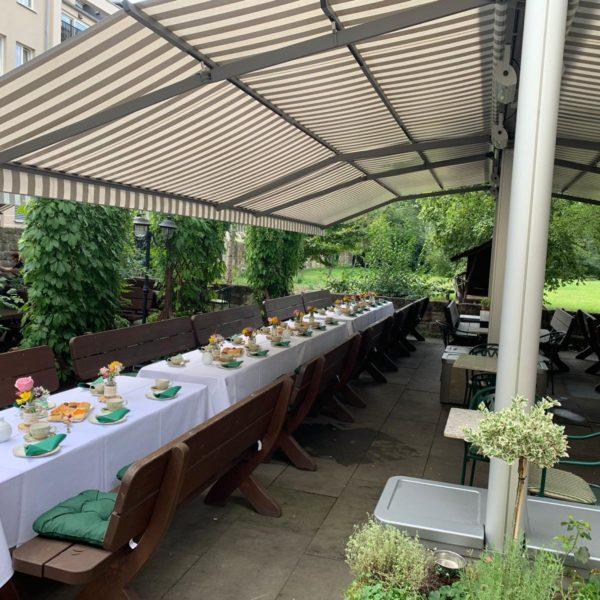 Geburtstagsfeier im Biergarten Dresden