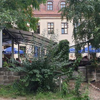 Biergarten beheizt am Zwinger